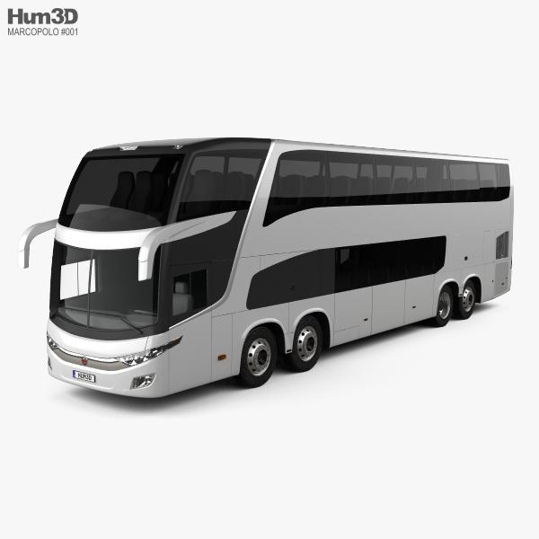 3D model of Marcopolo Paradiso G7 1800 DD 4-axle Bus 2017
