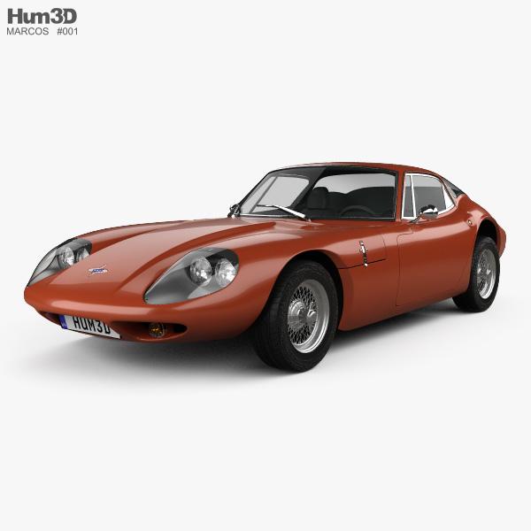 Marcos 1600 GT 1972 3D model