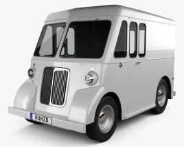 3D model of Marmon-Herrington Delivery Truck 1946