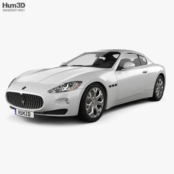 3D model of Maserati GranTurismo 2011