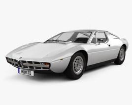 3D model of Maserati Merak 1972