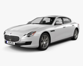 3D model of Maserati Quattroporte 2013