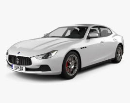 3D model of Maserati Ghibli III Q4 2013
