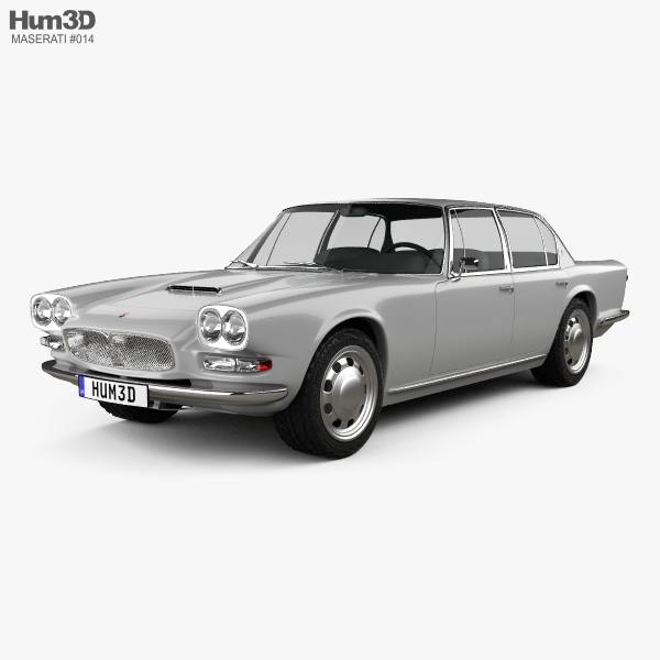 3D model of Maserati Quattroporte 1966