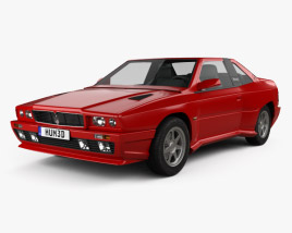 3D model of Maserati Shamal 1990