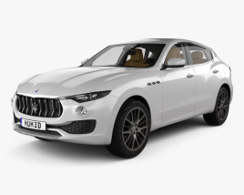 3D model of Maserati Levante with HQ interior 2017