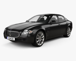 3D model of Maserati Quattroporte 2004