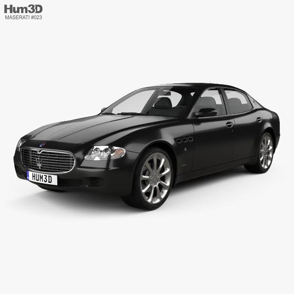 3D model of Maserati Quattroporte 2004