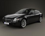 3D model of Maserati Quattroporte 2012