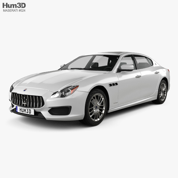 3D model of Maserati Quattroporte GTS Gran Sport 2017