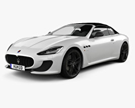 3D model of Maserati GranCabrio MC 2013
