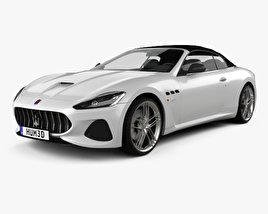 3D model of Maserati GranCabrio MC 2017