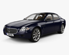 3D model of Maserati Quattroporte with HQ interior 2004
