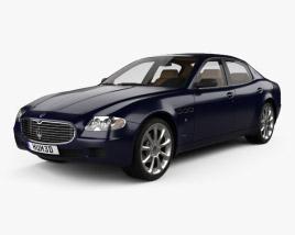 3D model of Maserati Quattroporte with HQ interior 2004