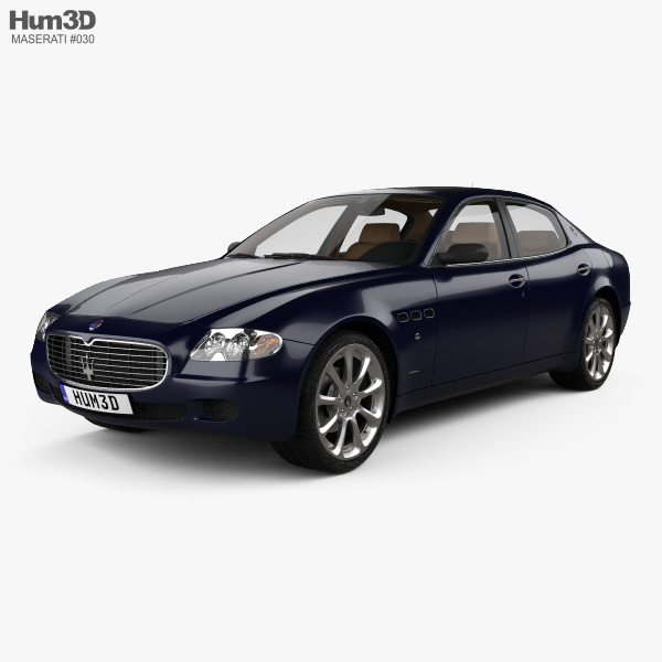 Maserati Quattroporte with HQ interior 2004 3D model