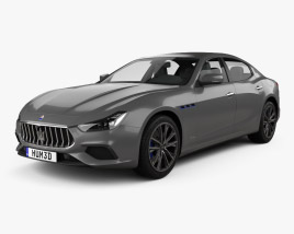 3D model of Maserati Ghibli Hybrid GranSport 2020