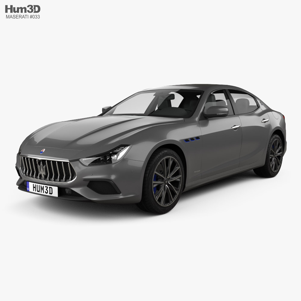 Maserati Ghibli Hybrid GranSport 2020 3D model