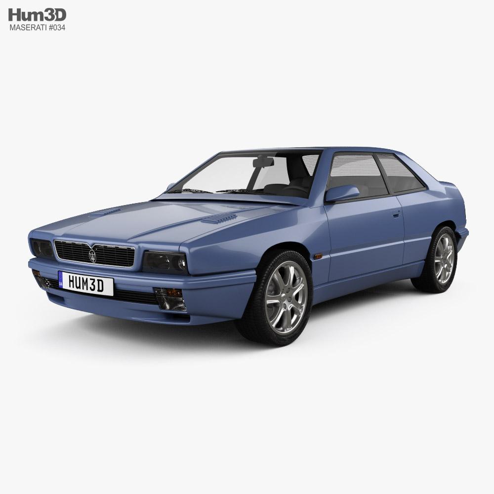 Maserati Ghibli 1992 3D model