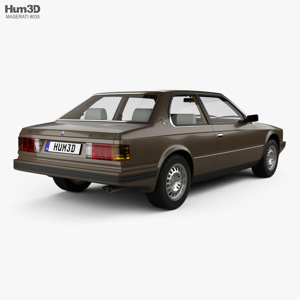 Maserati Biturbo coupe with HQ interior 1982 3d model