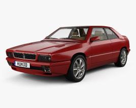 Maserati Ghibli HQインテリアと 1992 3Dモデル