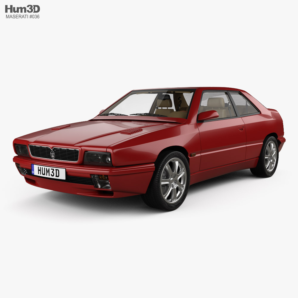 Maserati Ghibli with HQ interior 1992 3D model