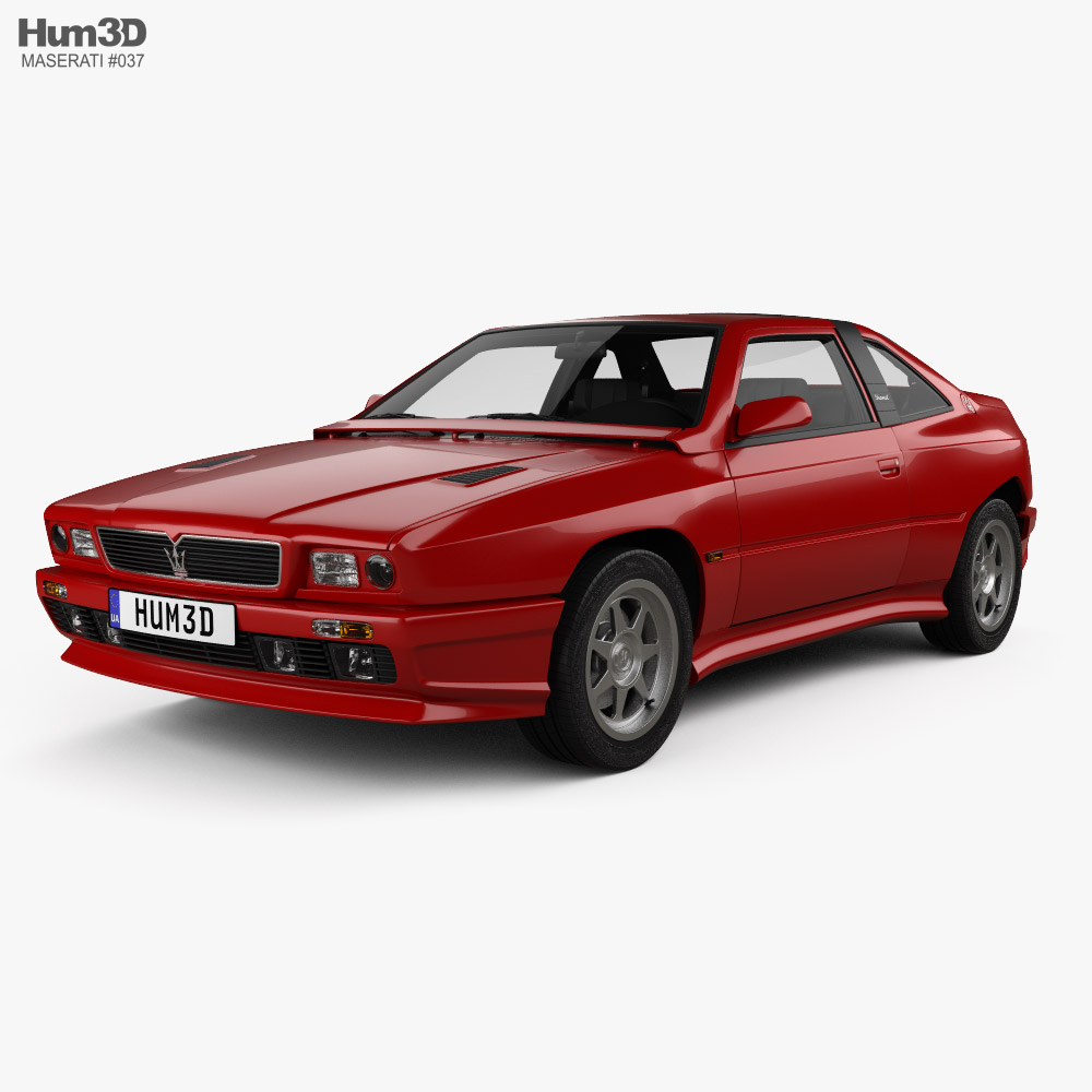 Maserati Shamal with HQ interior 1990 3D model