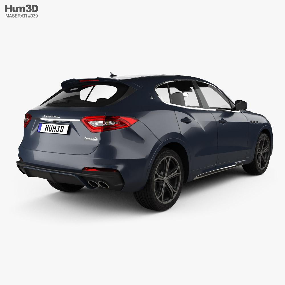 Maserati Levante Trofeo 2019 3d model back view