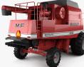 Massey-Ferguson 8560 Combine 9320 Harvester Head 1986 3d model