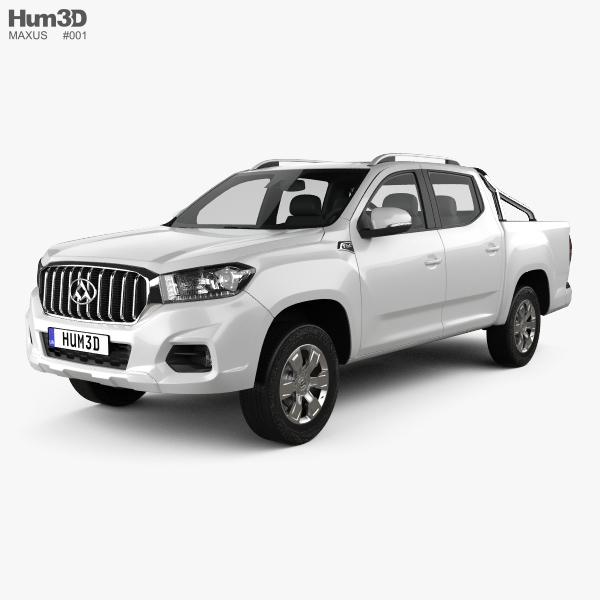 3D model of Maxus T60 Double Cab 2017