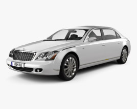 3D model of Maybach 62S 2011