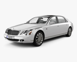 3D model of Maybach 62S Landaulet 2007