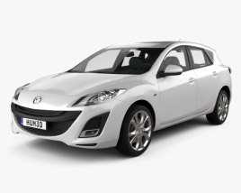 3D model of Mazda 3 hatchback 2011