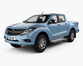 3D model of Mazda BT-50 Dual Cab 2012