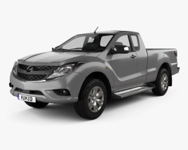 3D model of Mazda BT-50 Crew Cab 2012