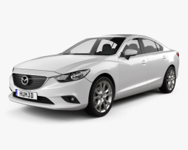 3D model of Mazda 6 wagon 2013