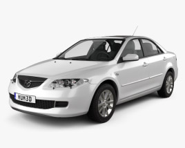 Mazda 6 sedan 2002 3D model