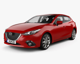 3D model of Mazda 3 hatchback 2014