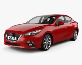 3D model of Mazda 3 sedan 2014