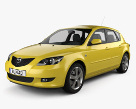 3D model of Mazda 3 hatchback 2003