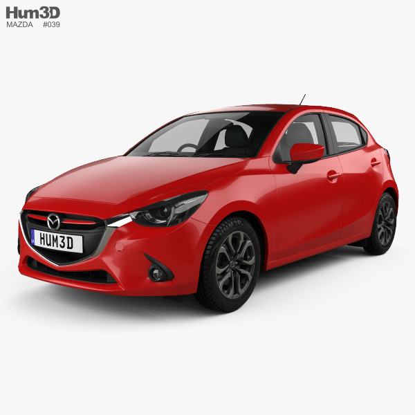 3D model of Mazda Demio 5-door hatchback 2014