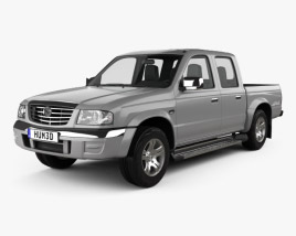 3D model of Mazda B-series (UN) 2500 Double Cab 2004
