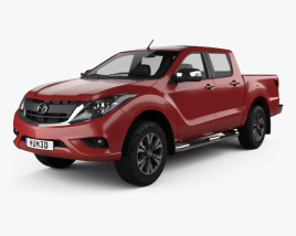 3D model of Mazda BT-50 Double Cab 2016