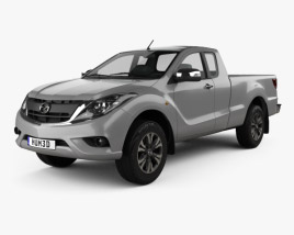 3D model of Mazda BT-50 Freestyle Cab 2016