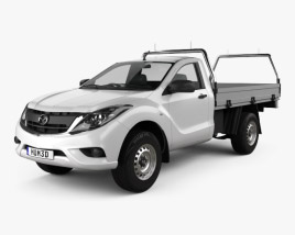 3D model of Mazda BT-50 Single Cab Alloy Tray 2016