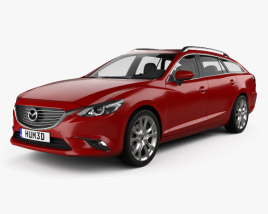 3D model of Mazda 6 GJ wagon 2015