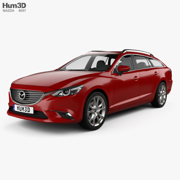 Mazda 6 GJ wagon 2015 3D model
