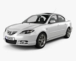 3D model of Mazda 3 sedan S 2005