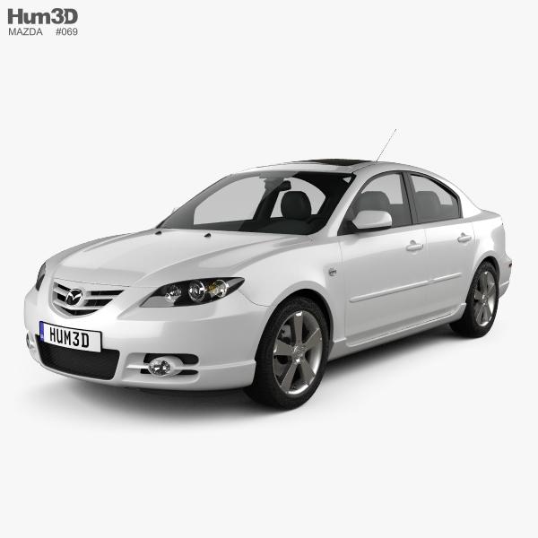 Mazda 3 sedan S 2005 3D model
