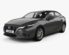 3D model of Mazda 3 sedan 2017