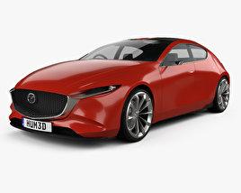 3D model of Mazda Kai 2017
